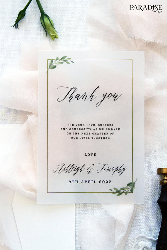 Thank you Cards, Printable Thank you cards, type: wedding stationery