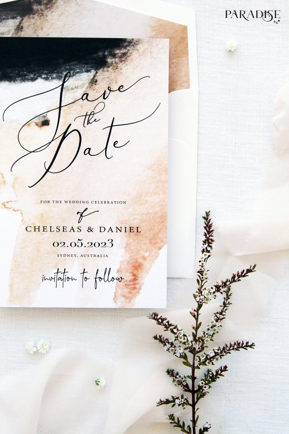 Shanton Watercolor Save the Date