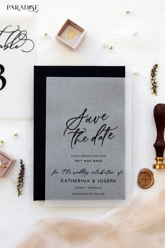 Desta Vellum Save the Date