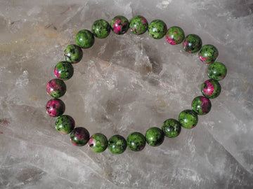 SOLD OUT - Rhodonite 8mm Round Bracelet