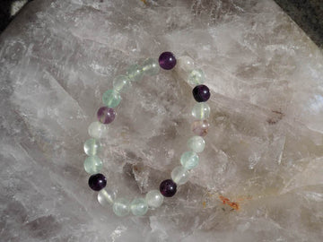 SOLD OUT - Fluorite 8mm Round Bracelet