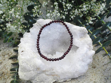 SOLD OUT- Garnet 4mm Round Bracelet