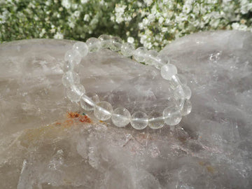 Clear Quartz 8mm Round Bracelet