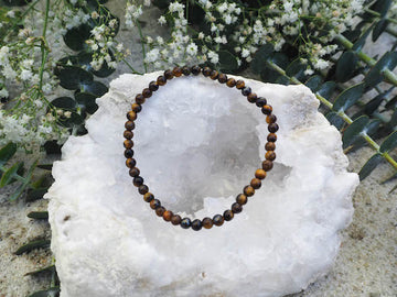 SOLD OUT- Tiger Eye 4mm Round Bracelet