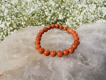 SOLD OUT - Goldstone 8mm Round Bracelet