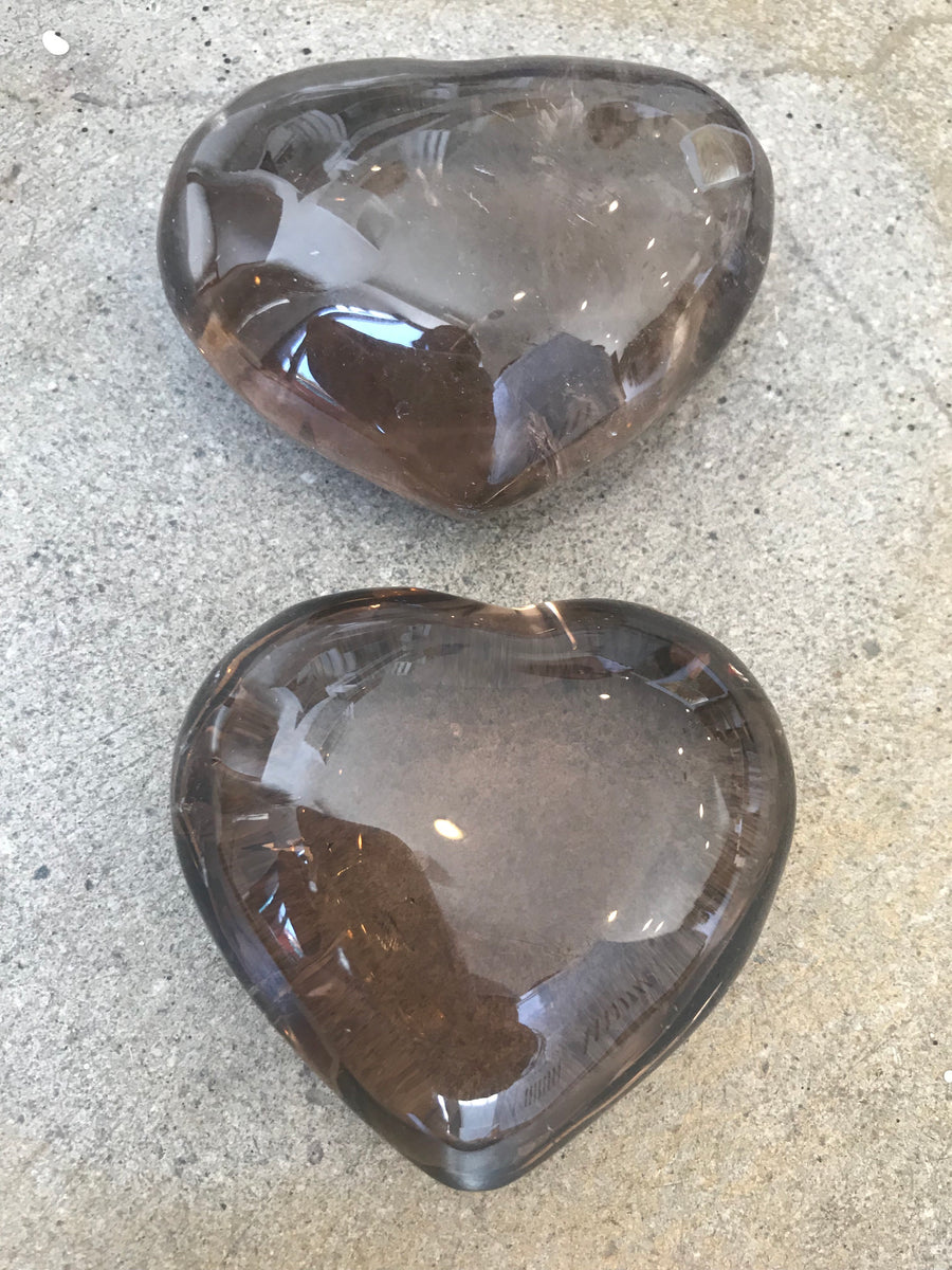 Sold out - Smokey Quartz hearts infused with love