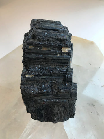 raw black tourmaline infused with love