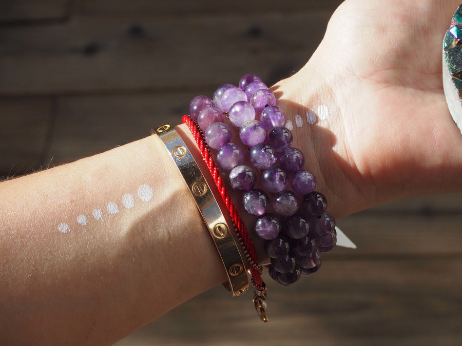 amethyst bracelet +  infused with love