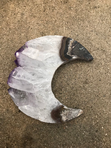 amethyst sliced new moon infused with love + light