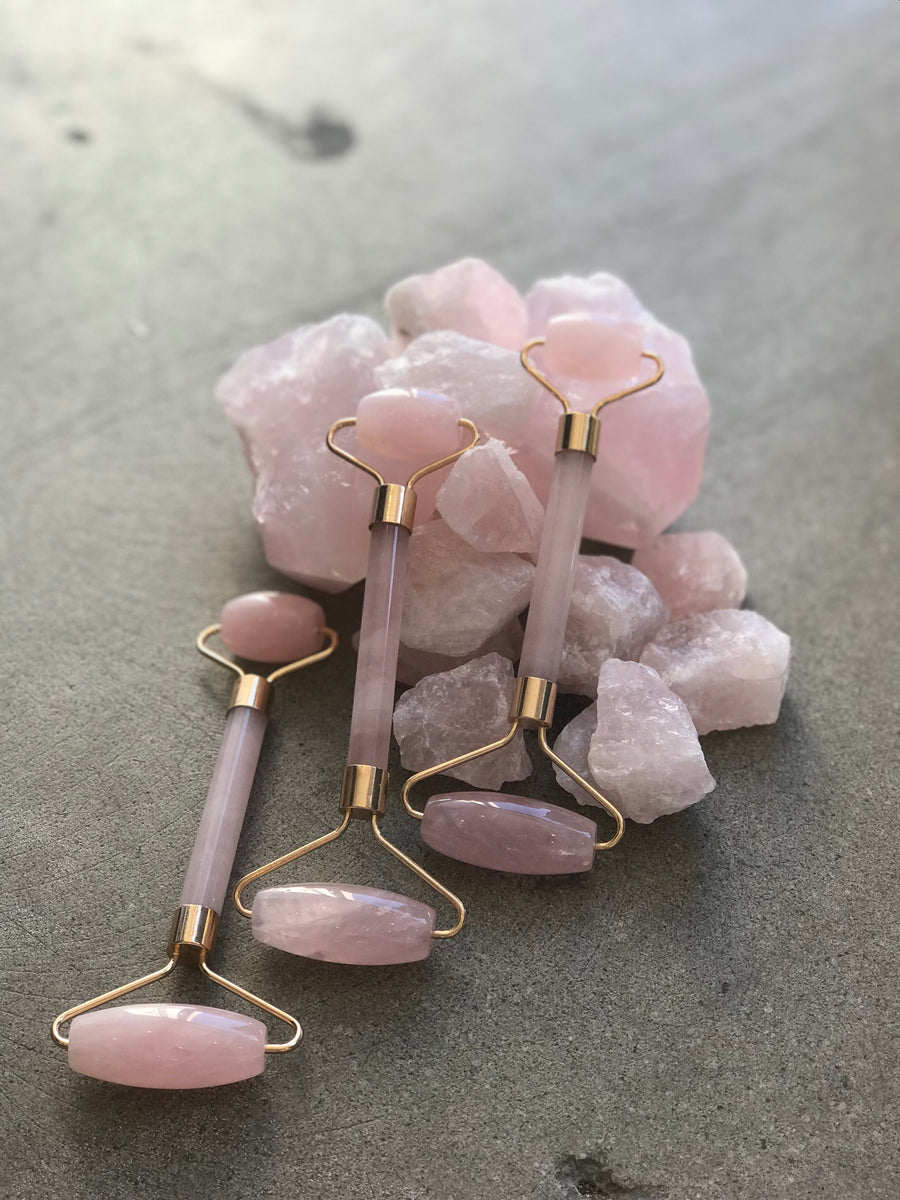 Rose Quartz Face Roller infused with love - S.A.L.E.