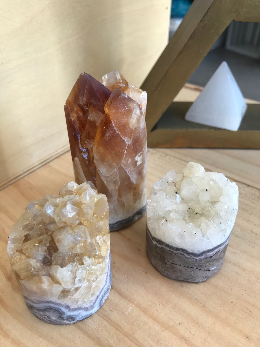 SOLD OUT - Citrine Druzy Cylinder - Infused with Love