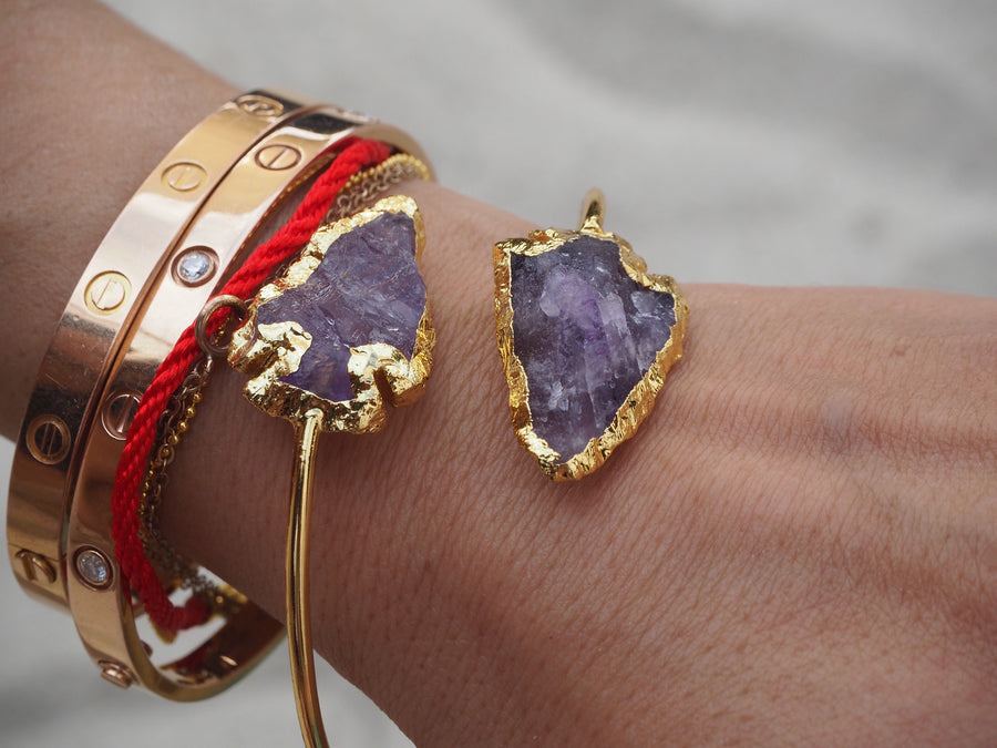 SOLD OUT-  ' i am vibrant' - amethyst arrowhead bracelet