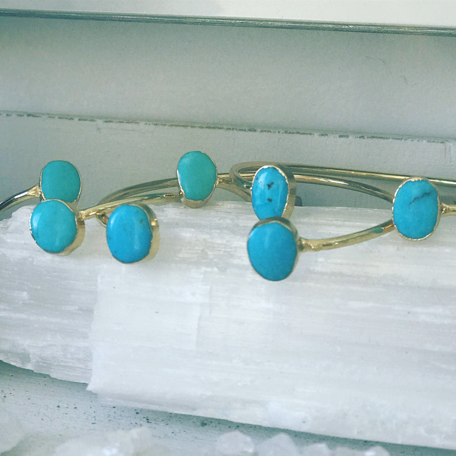 ' i vibrate with love' - turquoise bangles