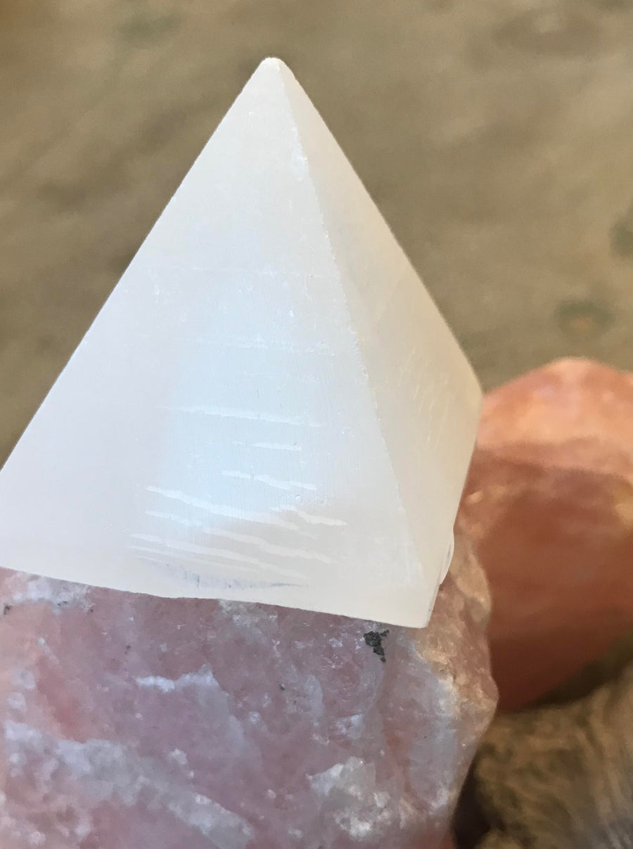 White Selenite Pyramid