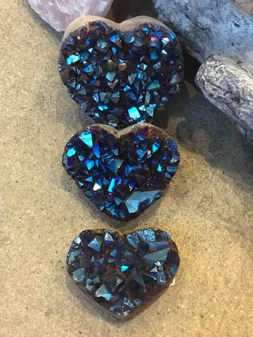 Cobalt Blue Amethyst Druzy Heart- SOLD OUT