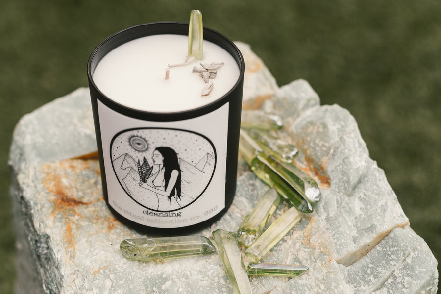 ' Cleansing ' reiki infused candle - the ritual collection