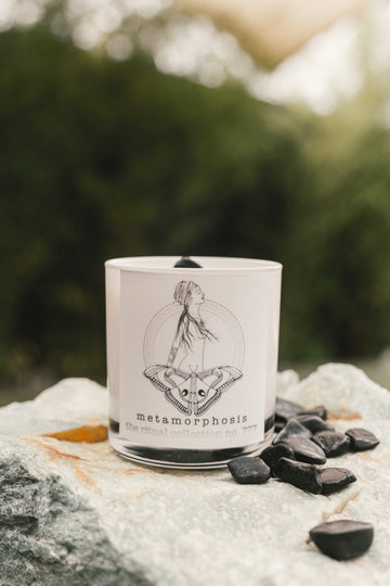 'metamorphosis ' reiki infused candle- the ritual collection