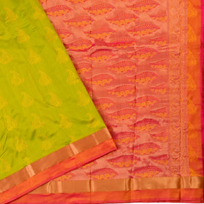 Mulberry | Green Color Pure Silk Saree