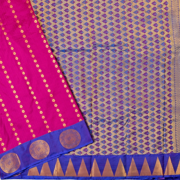 Mulberry | Pink/Violet Color Pure Silk Saree