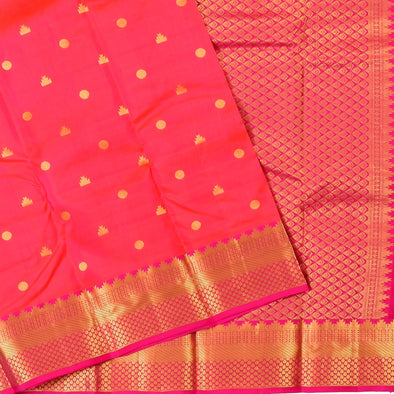 Mulberry | Red Color Traditional Pure Silk Saree