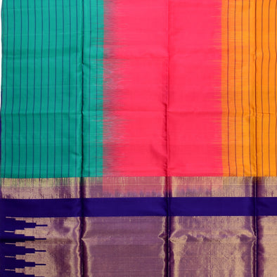 Mulberry | Multi Color Soft Silk Saree