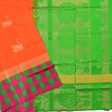 Mulberry | Orange Color Soft Silk Saree