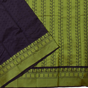 Mulberry | Black Color  Cotton Saree