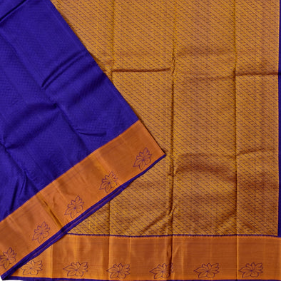 Mulberry | Violet/Blue Color  Pure Silk Saree