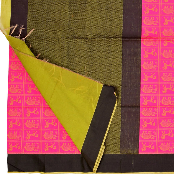 Mulberry | Pink Color  Kota Cotton Saree