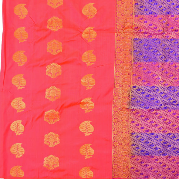 Mulberry | Red Color  Pure Silk Saree
