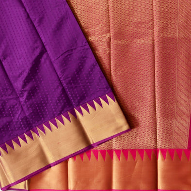 Mulberry | Violet Color Art Silk Saree