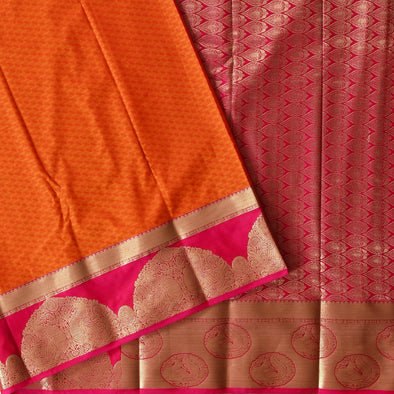 Mulberry | Orange Color Art Silk Saree