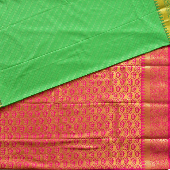 Mulberry | Green Color Art Silk Saree