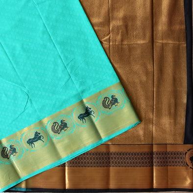 Mulberry | Arctic Blue Color Art Silk Saree