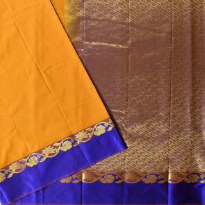 Mulberry | Yellow Color Art Silk Saree