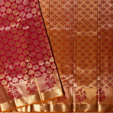 Mulberry | Maroon Color Art Silk Saree