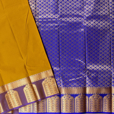 Mulberry | Mustard/Violet Color Art Silk Saree