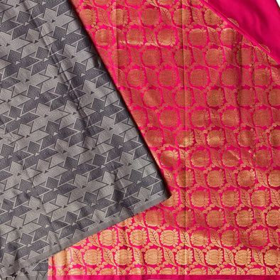 Mulberry | Fancy Patli Art Silk Saree