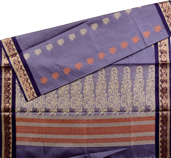 Mulberry | Pure Cotton Saree - SKUCOT0006