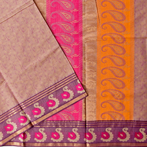 Mulberry | Lavender Color Pure Cotton Saree