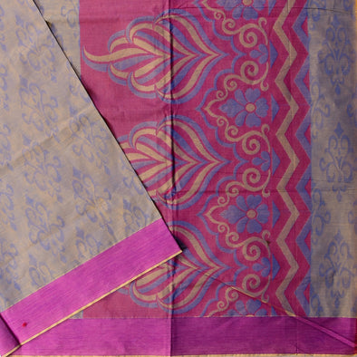 Mulberry | Purple Color Pure Cotton Saree