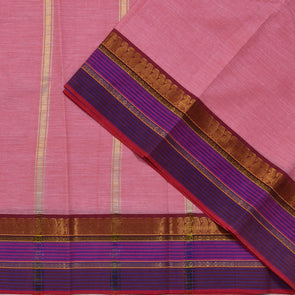 Mulberry | Pink Color Pure Cotton Saree