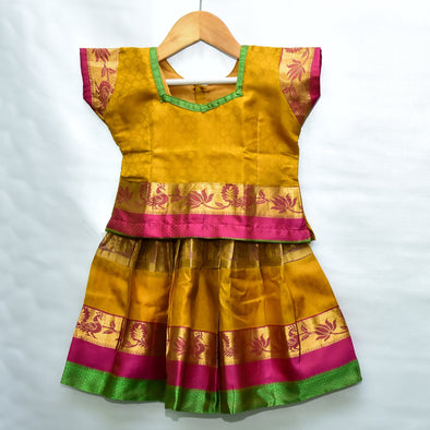 Mulberry | Mango Color Pattu Pavadai