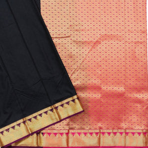 Mulberry | Black Color Art Silk Tana Saree