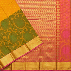 Mulberry | Yellow Color Art Silk Tana Saree