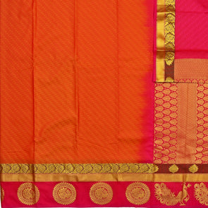 Mulberry | Red Color Art Silk Tana Saree