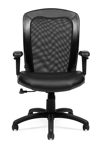 Your Style Luxhide Adjustable Mesh Back Ergonomic Chair
