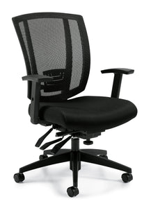 Your Style Upholstered Seat and Mesh Back Multi-Function