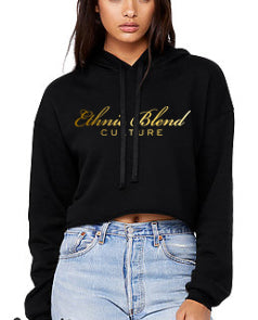 Ethnic Blend Gold Foil Half Top Hoody