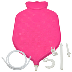 COFFEE ENEMA BAG - MEDICAL GRADE 2 QUART ENEMA BAG with Accessories